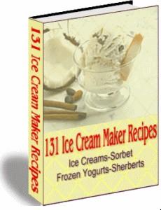 1 pc ebook - 132 Ice Cream Recipies