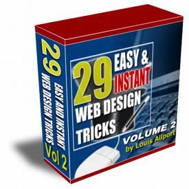 1 pc ebook - 29 Web Design Tricks - Volume 2 - Video