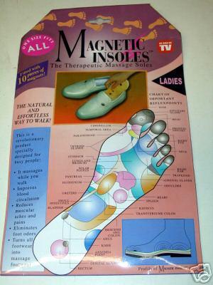 1 pc  LADIES THERAPEUTIC MAGNETIC HEALTH CARE INSOLES