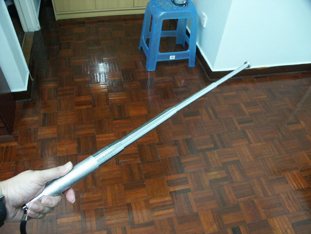 1 pc Safety Retractable Baton - Chrome Color - Extra Long