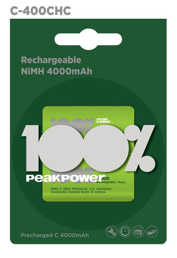 100%PeakPower Rechargeable Battery 2s 4000mAh C