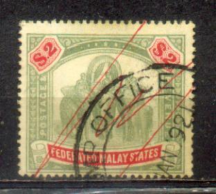 1904-22 Malaya FMS $2. Wkm Mult. Crown CA