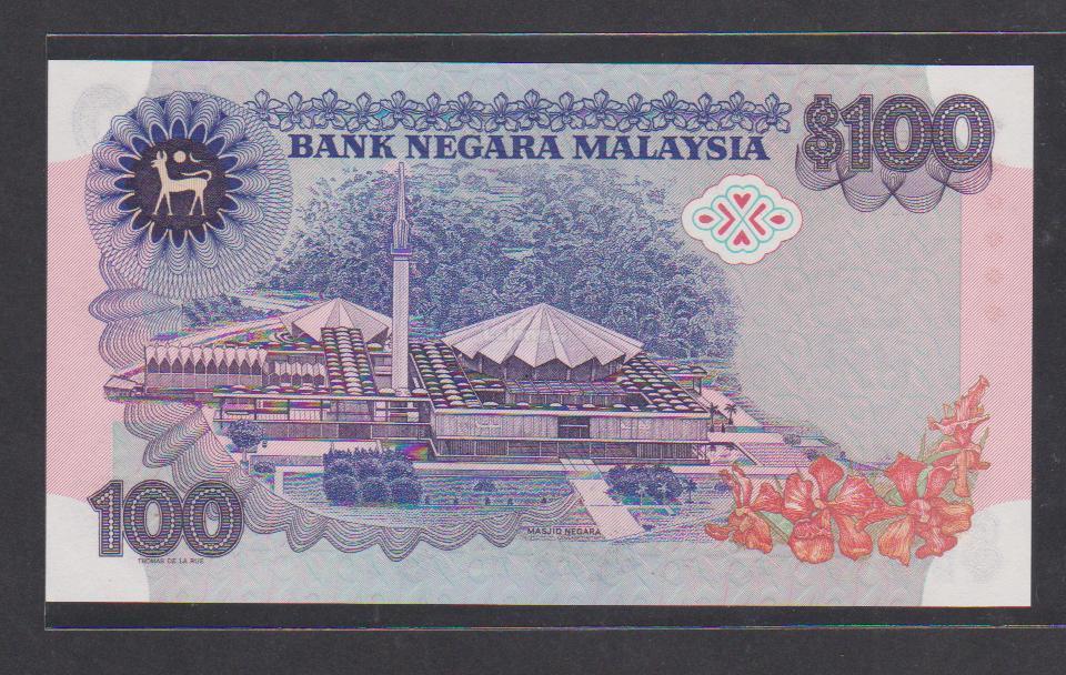 1982-84 Malaysia 100 Ringgit (Aziz Taha) - Ori UNC