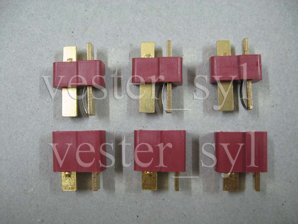 New 3 Pairs (3pcs Female & 3pcs Male) Dean / T Connectors