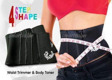4 Step Shape Belly Fat Burner Weight Loss Belt Bengkung