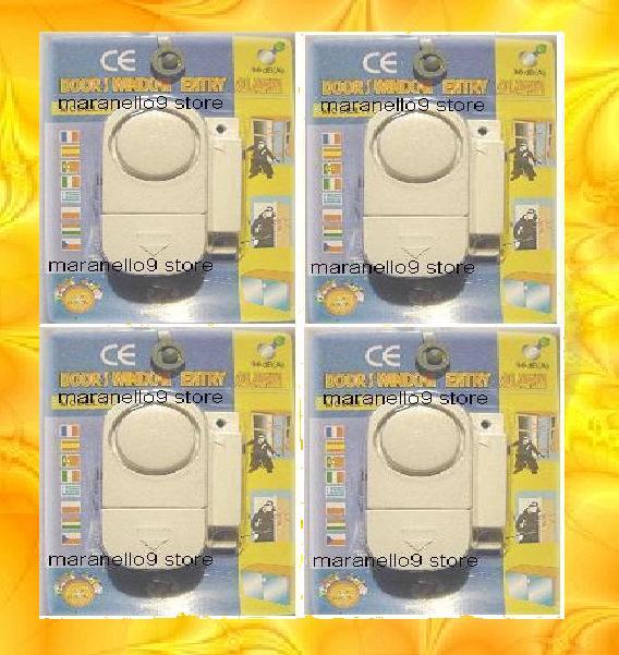 4 Units Of Complete Window Door Wireless Alarm System, Worth The Buy!