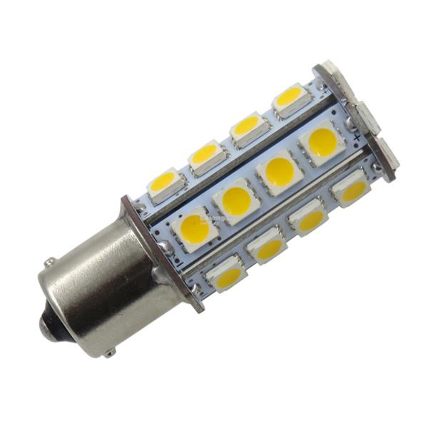 4pc 1156 BA15S 30-5050 LED Warm White 3500K Bulb