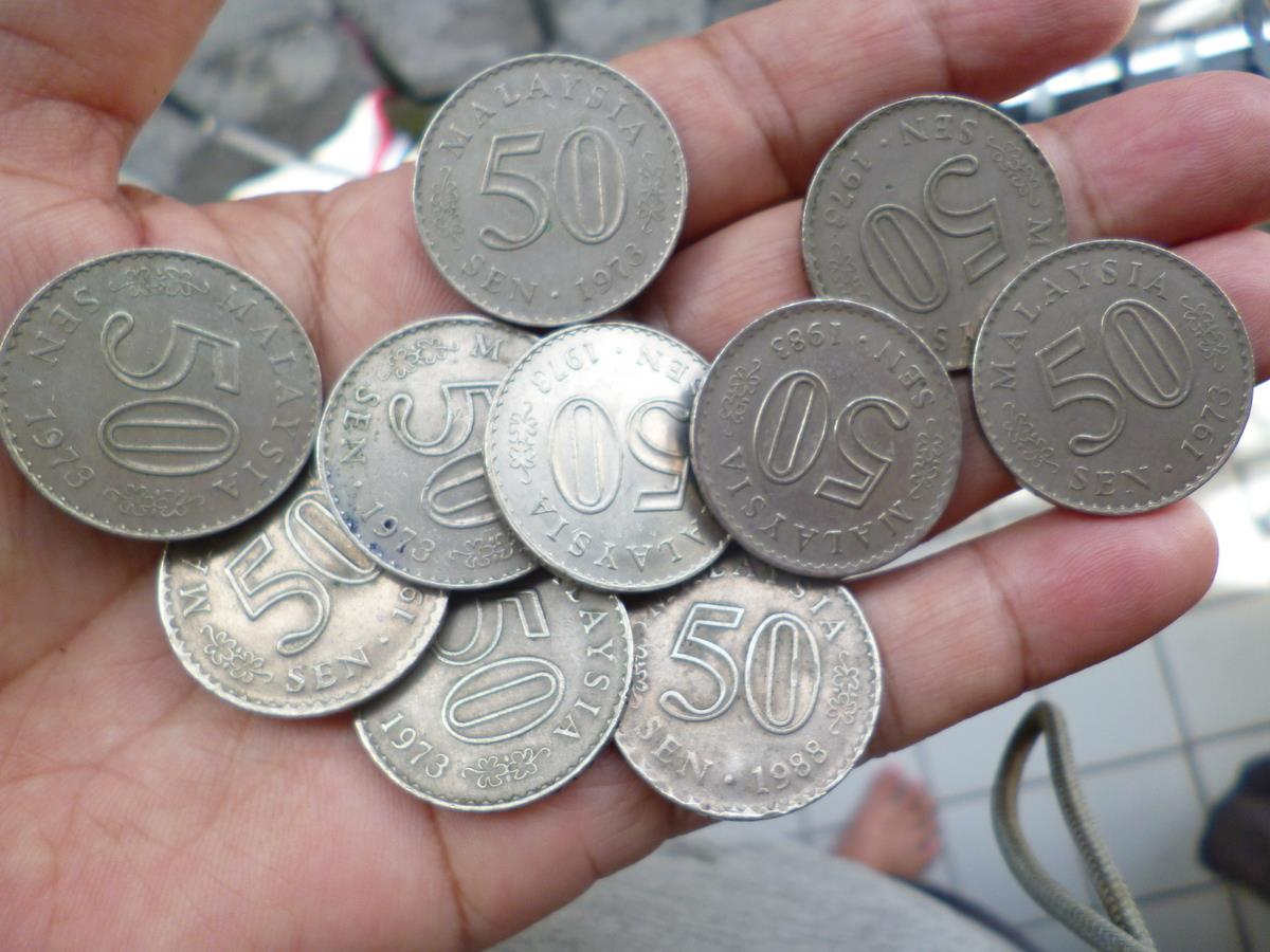 50  CENTS COIN MALAYSIA 1973-88 MIX LOT