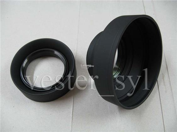 52mm or 58mm Collapsible Rubber Lens Hood (Screw-In Type)