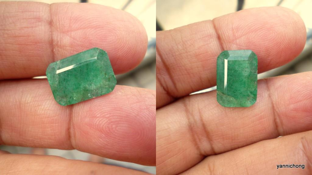 6.40 CARATS  NATURAL GREEN EMERALD
