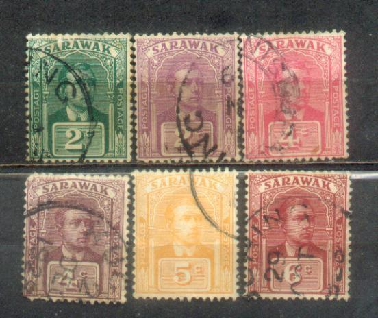 6 Malaya Sarawak 1918-28 Old Stampa