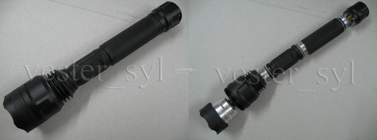 600 Lumens Xenon Tactical Flashlight (2X18650)