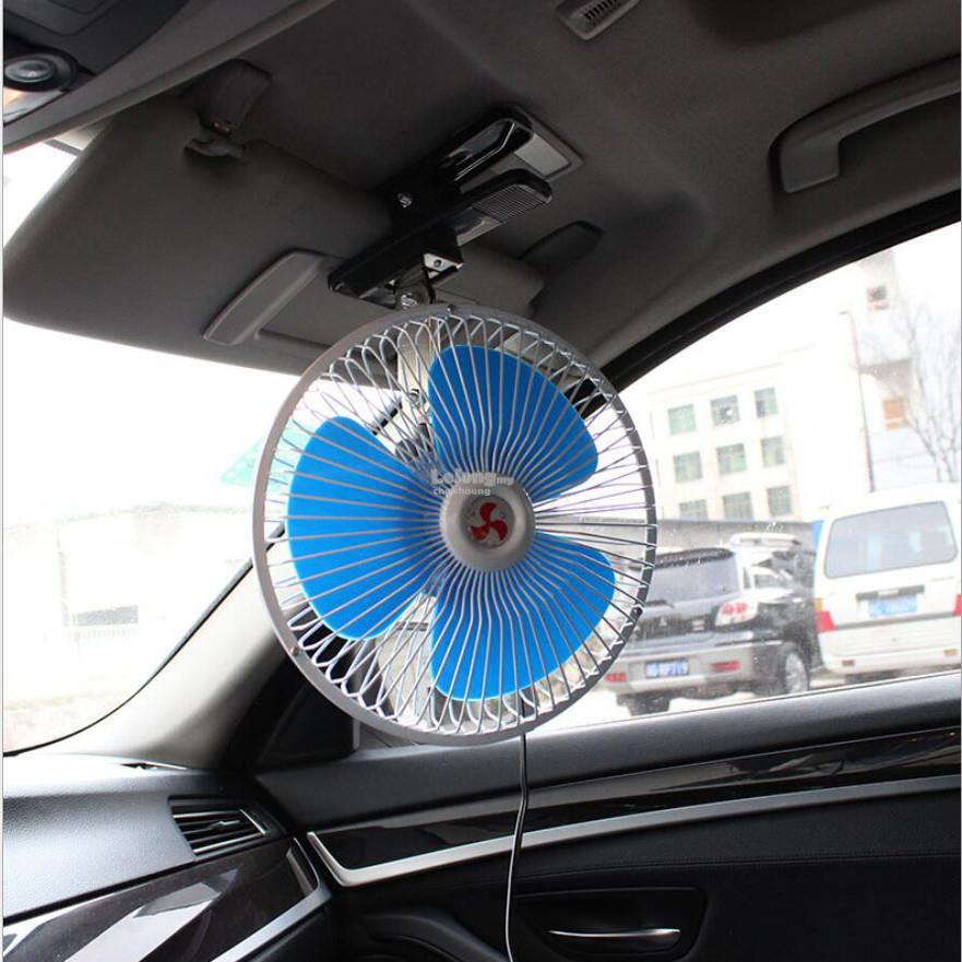 8' 24V Portable Oscillating Rotating Truck automobiles Fan for Handles