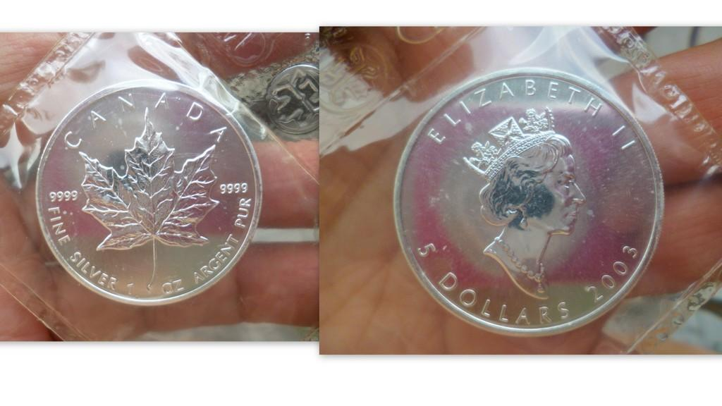 ,9999 SILVER  BULLION CANADIAN 2003