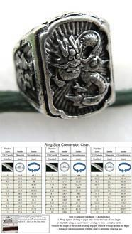 ABRSM-D004 Full Dragon Style Silver Metal Ring - Size 7~13