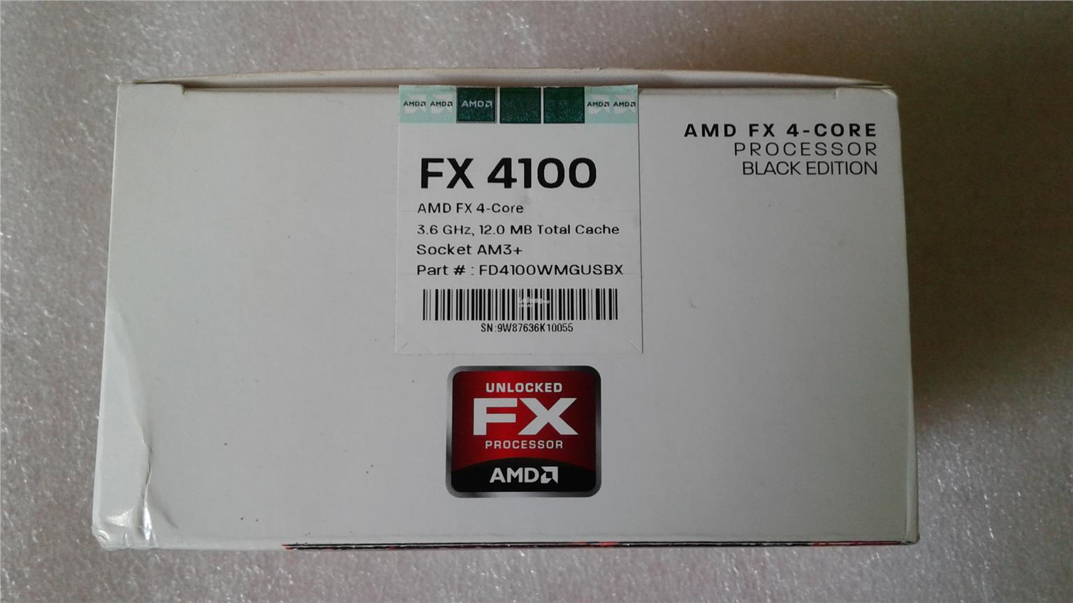 AMD FX4100 3.6 Ghz Socket am3+ FX 4100 + HSF + Box