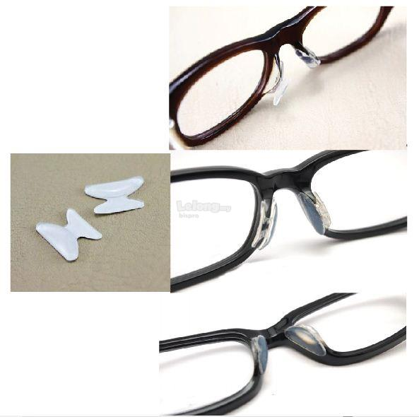 Anti Slip Eyeglass Sunglass Stick On Silicon Nose Pad White
