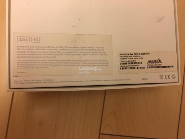 Apple iPad 32gb Wifi+ 4G+GPS. 9.7 inch