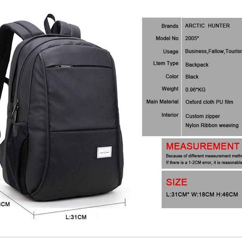 Arctic Hunter Laptop Bag with Water Bottle Compartment i-Smartz (15')