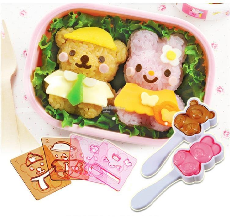 Arnest KAWAII Bento Box Sushi Rice Mold KIT Set