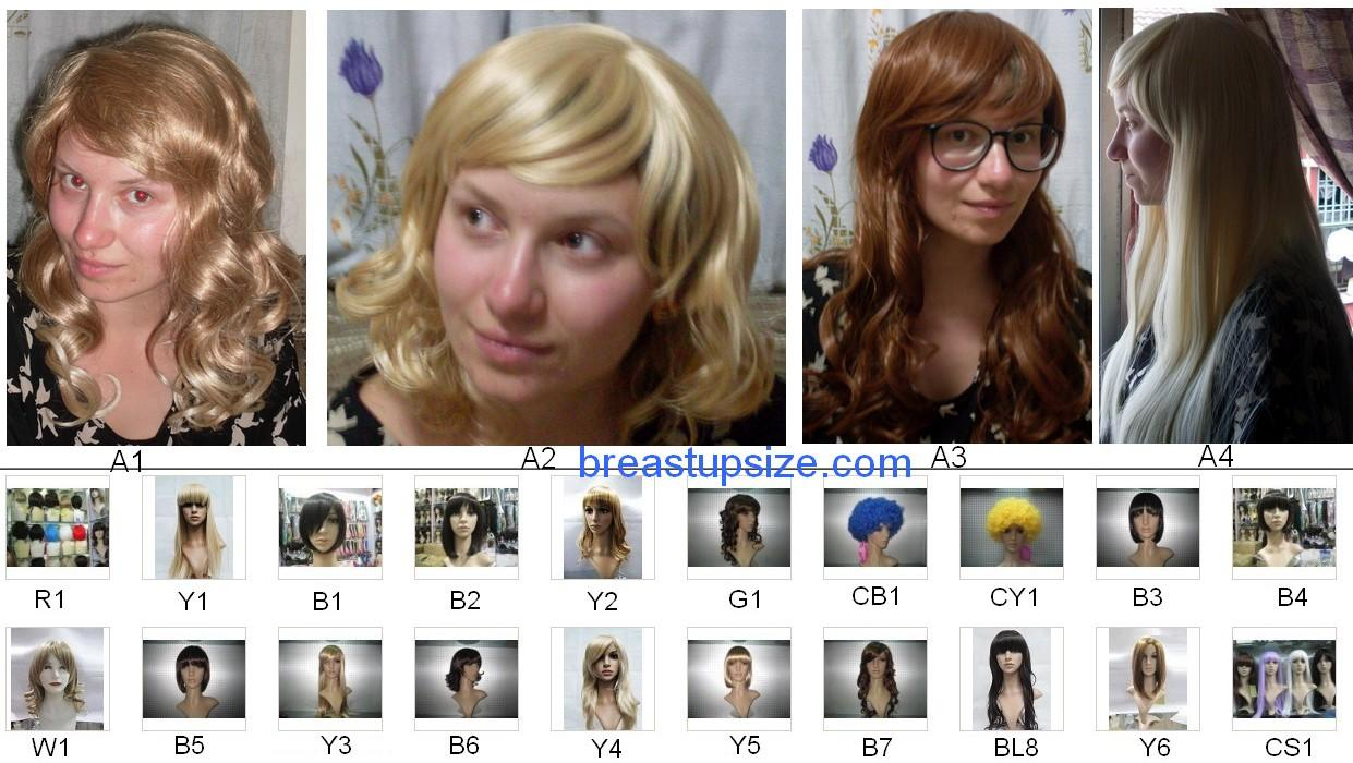 Assorted Wig Like Real Hair  Kanekalon Fibre Cosplay Halloween