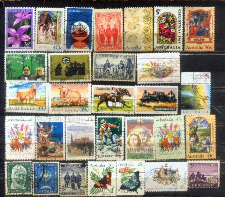 Australia 30 Nice Stamps Lot