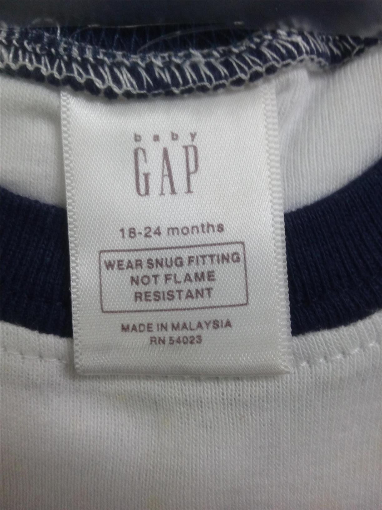 "(BG 0024)New Baby Gap Kid  Pyjamas ""Sleep Robot"" 18-24M"