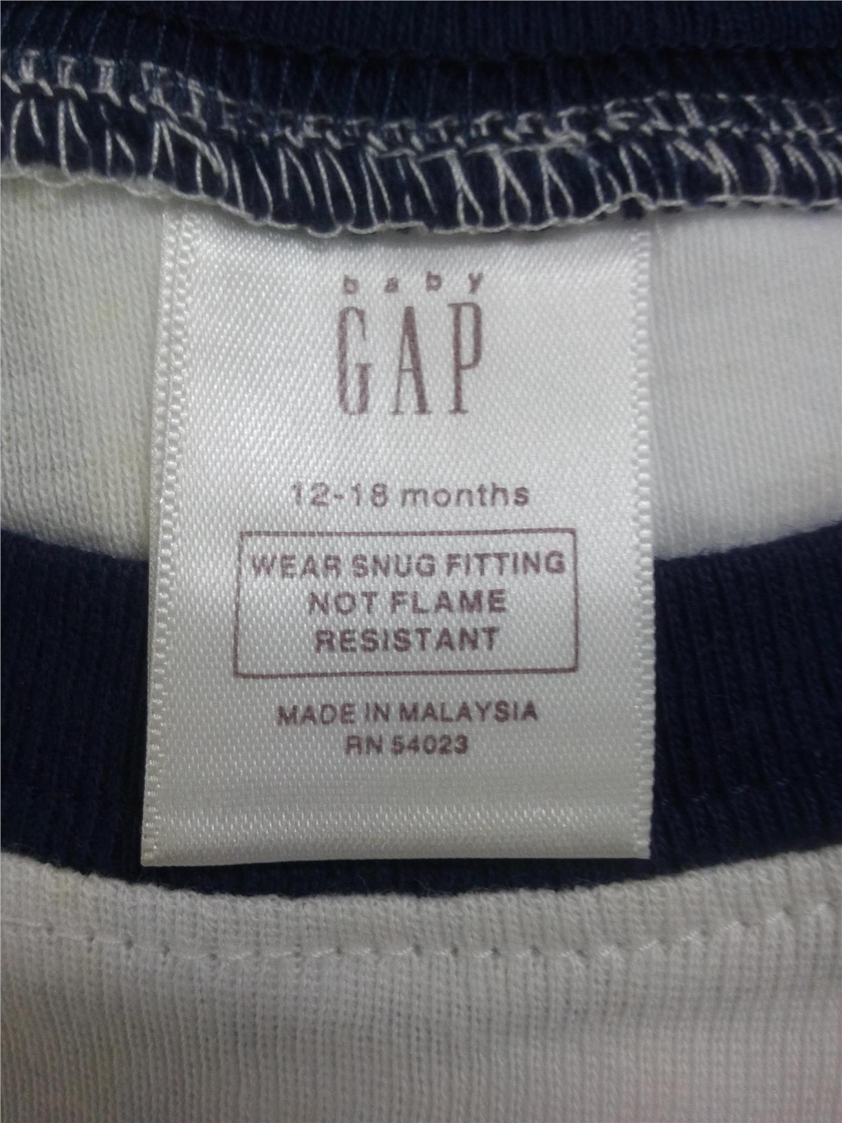 "(BG 0025)New Baby Gap Kid  Pyjamas ""Sleep Robot"" 12-18M"