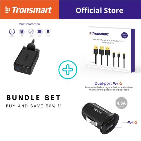 [Bundle Set] Tronsmart Quick Charge 3.0 Multi-ports Solution