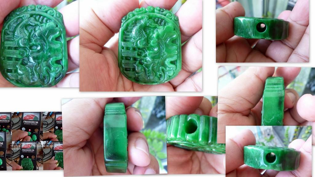 OLD MINE BURMESE GREEN JADE  'YEE '  FISHES