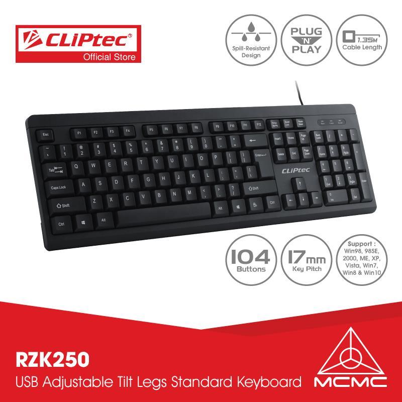 CLiPtec KLASSIC II USB Standard Keyboard RZK250