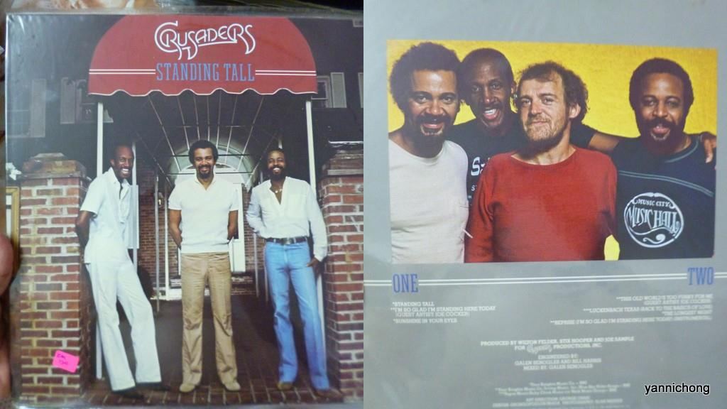 THE  CRUSADERS STANDING TALL RECORD VINYL