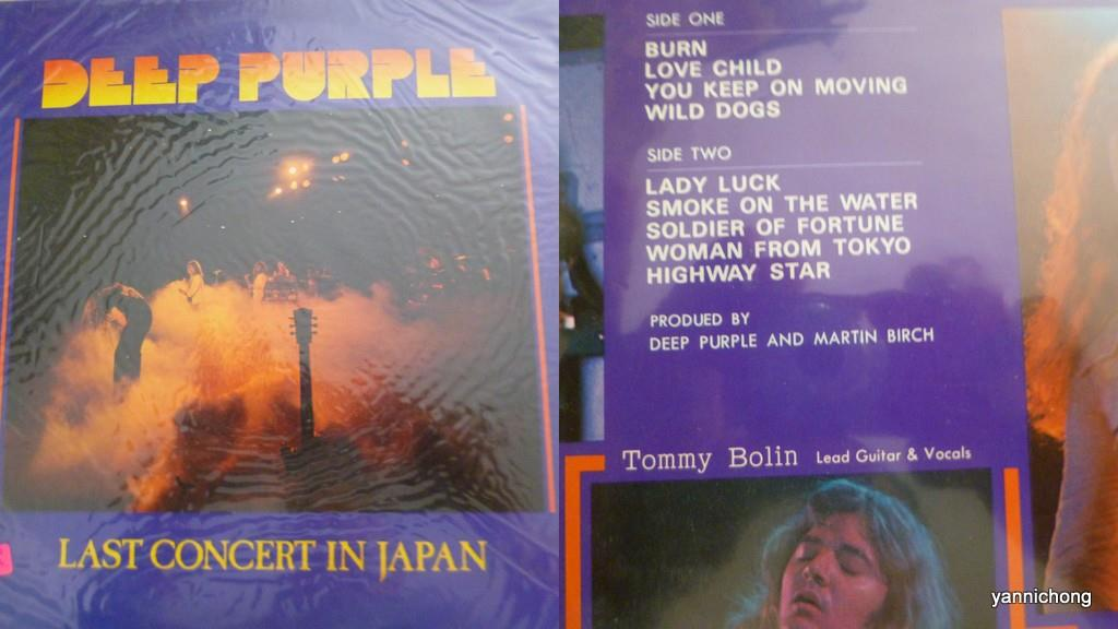DEEP  PURPLE LIVE IN JAPAN TOMMY BOLIN
