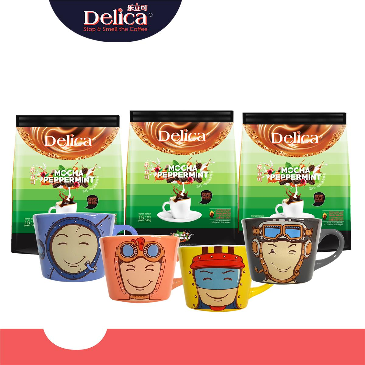 [Star Deal] [Delica Coffee] Mocha Peppermint (15 x 36g) x 3 packs