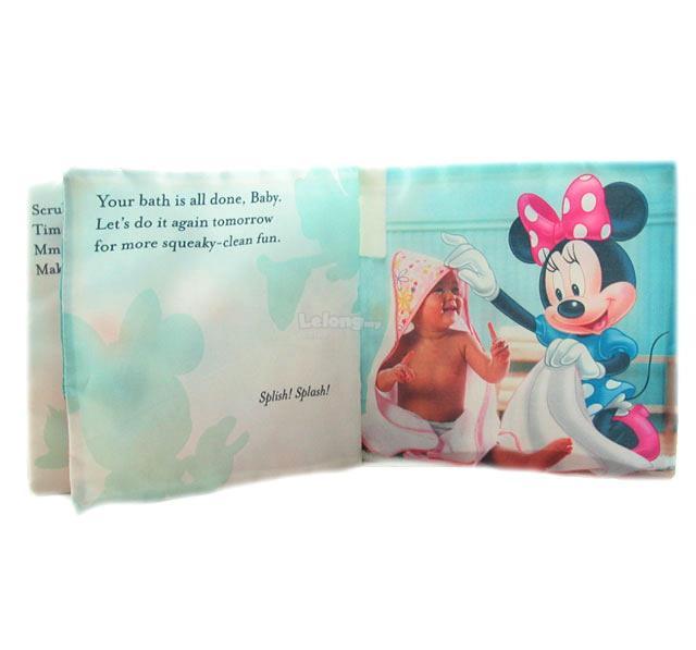Disney BB Soft Cloth Book - Bath Time