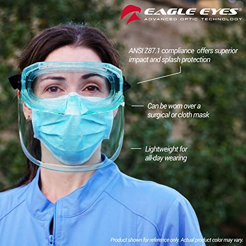 Eagle Eyes Anti-Fog Scratch-Resistant Safety Goggles with Face Shield - 99.9%