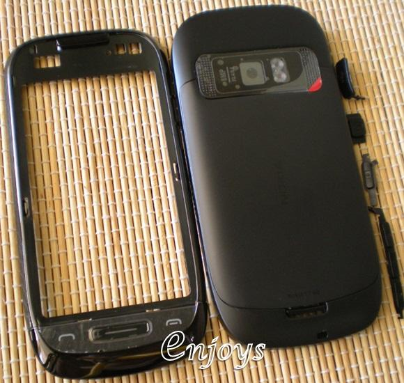 Enjoys: AP ORIGINAL HOUSING Nokia C7 C7-00 ~BLACK ~#FULL SET#
