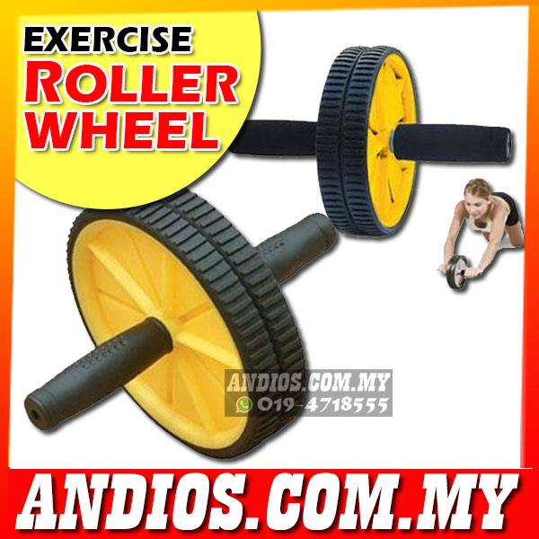 Exercise Wheel Roller Gym Fitness Workout Abs Core Abdominal