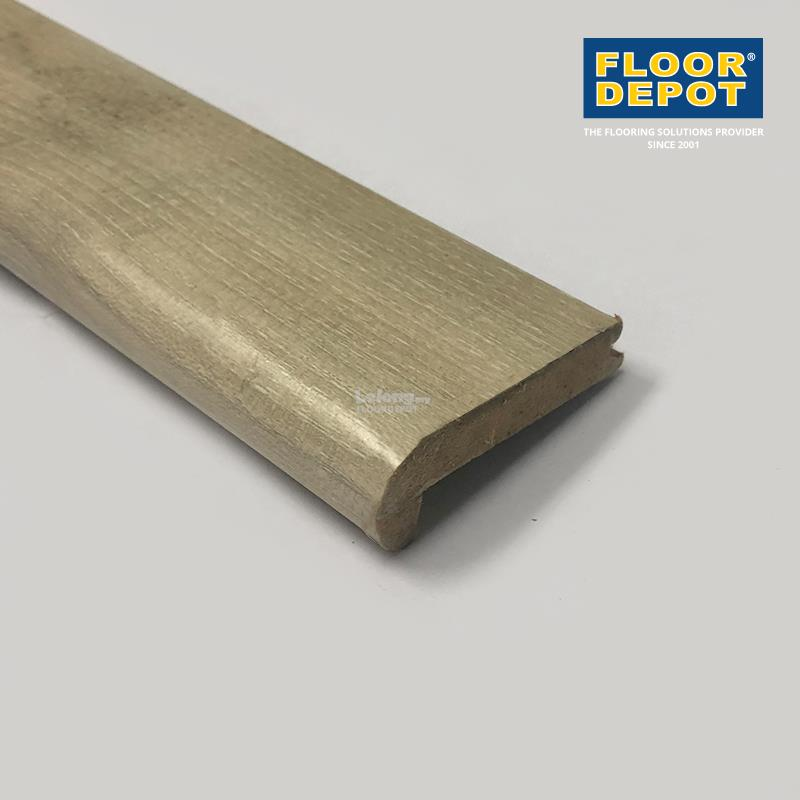 FLOOR DEPOT - 12MM LAMINATE STAIRNOSE LOC-PROFILE - GIGANO OAK