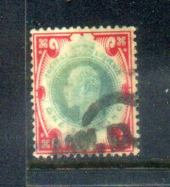 GB 1902-11 KEVII one shilling Nice Stamps