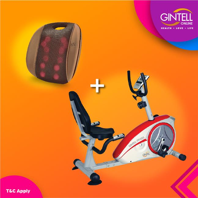 GINTELL Recumbent Bike KLJ8601R (Showroom Unit)+G Resto