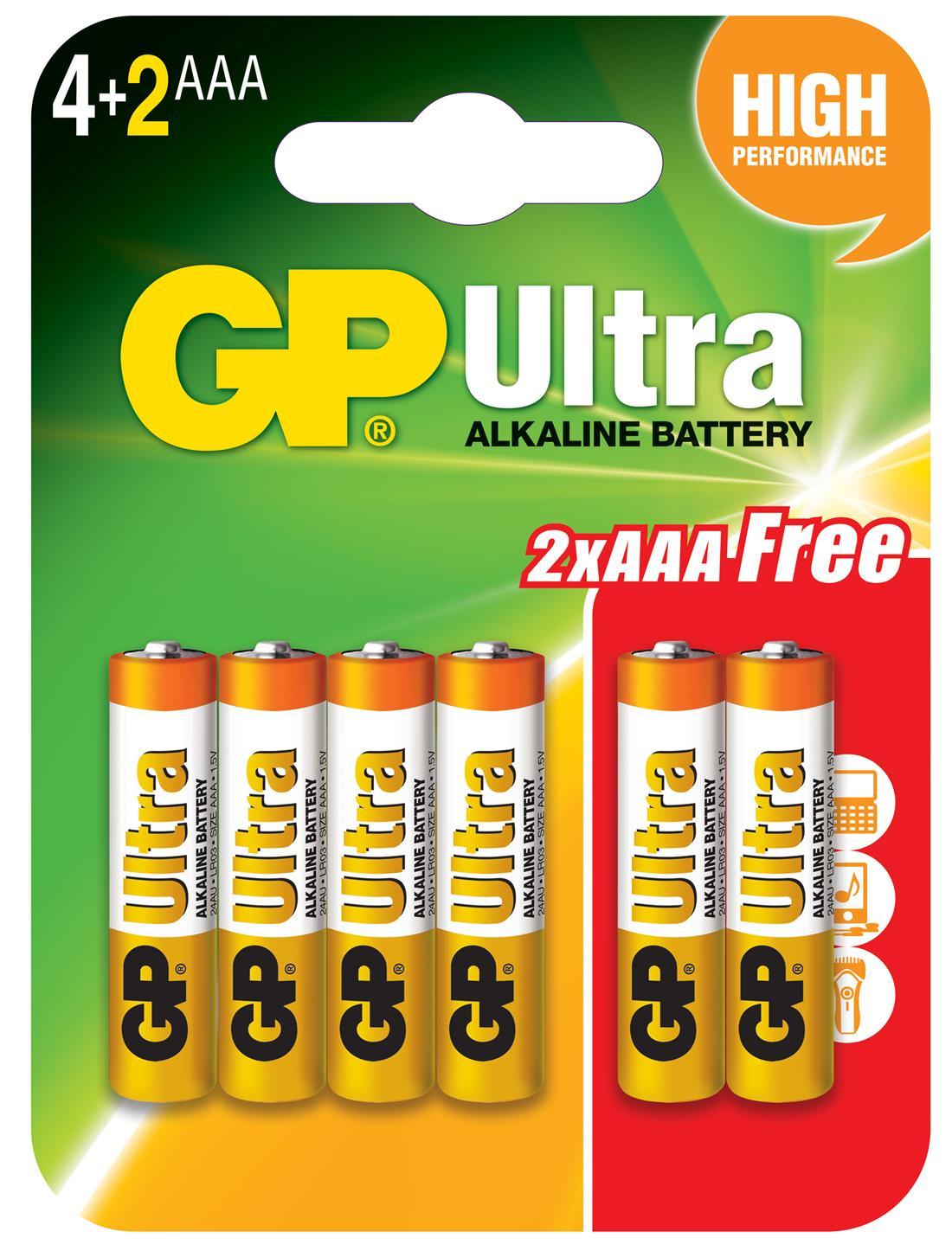 GP Batteries Ultra Alkaline Battery AA / AAA