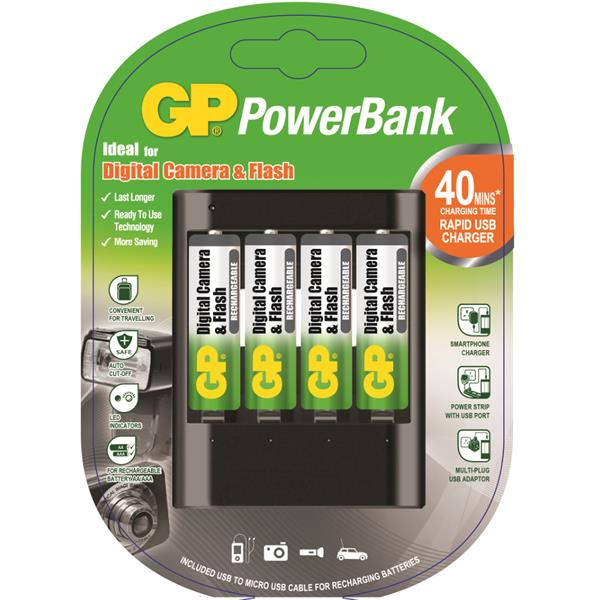 Gp Rechargeable Charger U421 4s 2700mAh AA