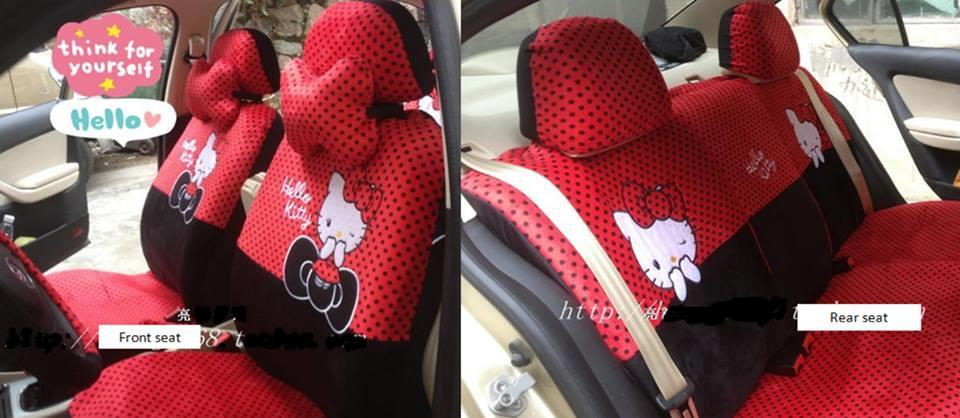 hello kitty car seat cover red polka end 5 8 2016 5 18 pm. Black Bedroom Furniture Sets. Home Design Ideas