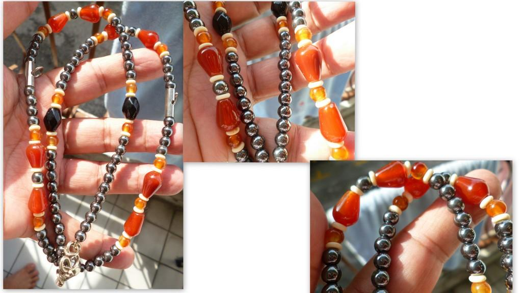 hematite agate  necklace for amulets