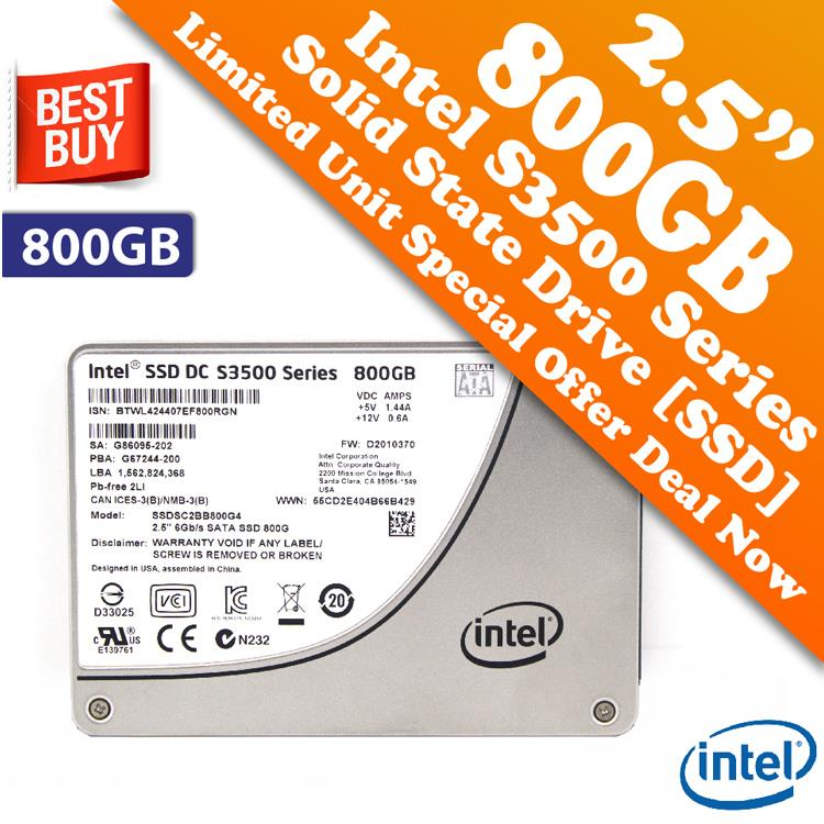 Intel DC S3500 Series 2.5' 800GB SSD for Laptop & Desktop Special Deal