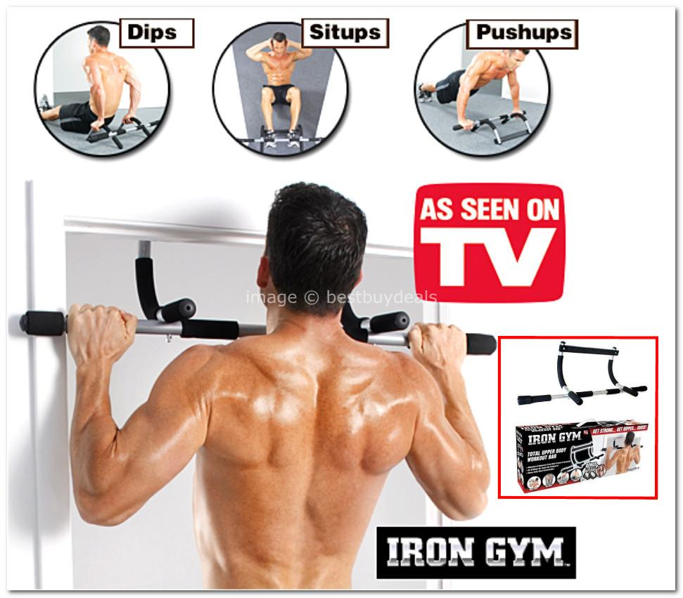 Iron Gym Upper Body Workout Bar Abs Push Ups Exercise Pull Home Office