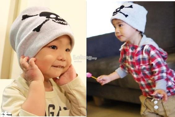 (KH17) New A.K Baby Knitwear, White - Pirate
