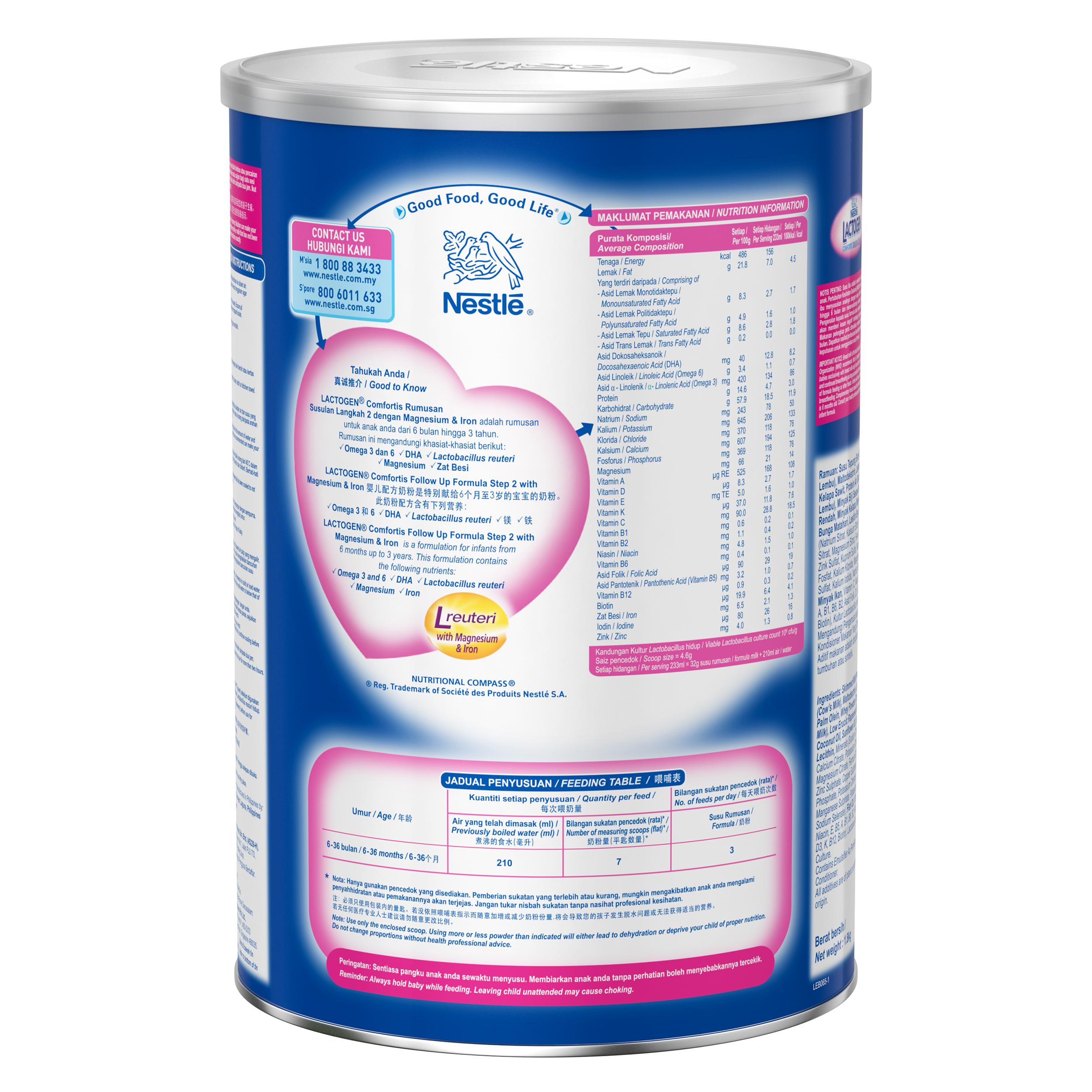 LACTOGEN 2 Comfortis Follow Up Formula Box Pack 1 8kg