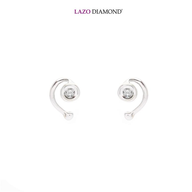 Lazo Diamond 9K White Gold Diamond Earrings - DE0722